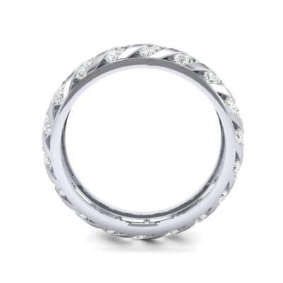 Diagonal Channel-Set Diamond Eternity Ring (1.26 CTW) Side View