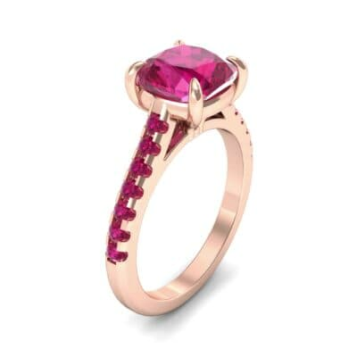Scalloped Pave Ruby Ring (0.32 Carat)