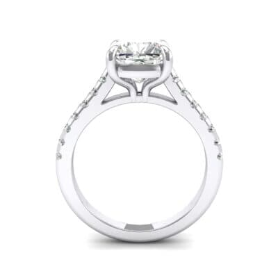 Scalloped Pave Crystal Ring (0.32 CTW) Side View