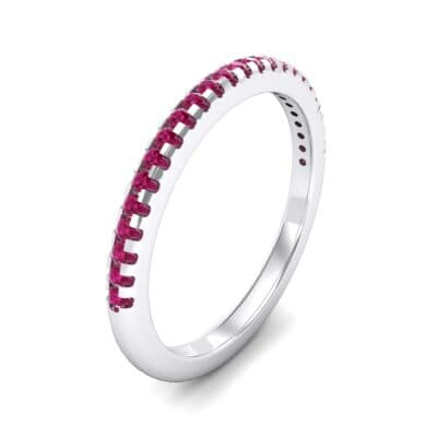 Petite Scalloped Pave Ruby Ring (0.17 Carat)