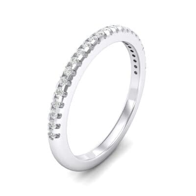Petite Scalloped Pave Crystals Ring (0.17 Carat)