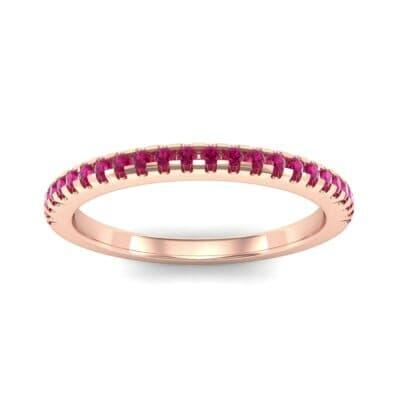 Petite Scalloped Pave Ruby Ring (0.17 Carat)