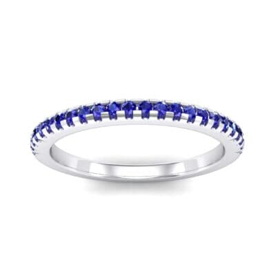 Petite Scalloped Pave Blue Sapphire Ring (0.17 Carat)