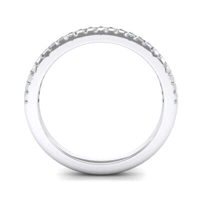 Petite Scalloped Pave Crystal Ring (0.17 CTW) Side View
