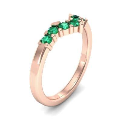 V Curve Emerald Ring (0.28 Carat)