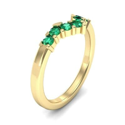 V Curve Emerald Ring (0.28 Carat)