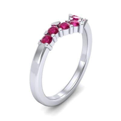 V Curve Ruby Ring (0.28 Carat)