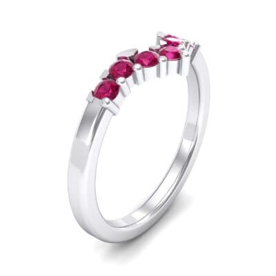 V Curve Ruby Ring (0.28 Carat)