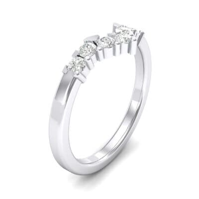 V Curve Crystal Ring (0.28 CTW)
