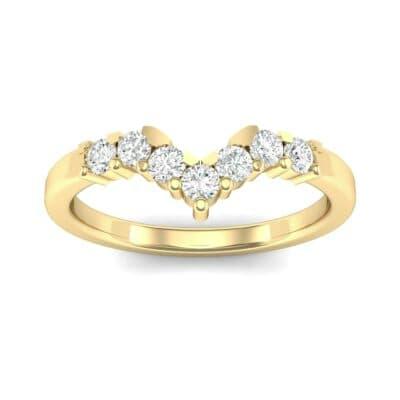 V Curve Diamond Ring (0.28 Carat)