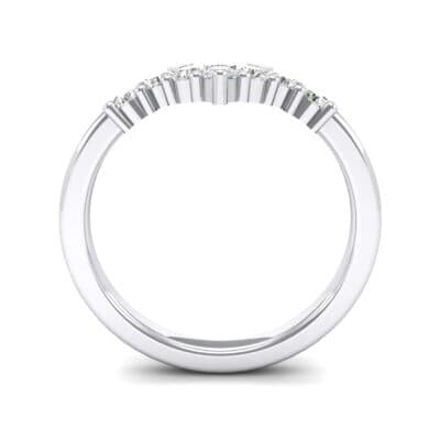 V Curve Crystal Ring (0.28 CTW) Side View