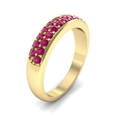 Two-Row Pave Ruby Ring (0.5 CTW)