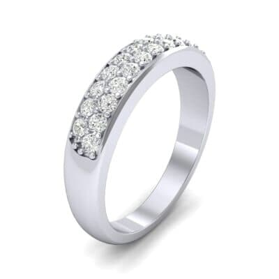 Two-Row Pave Diamond Ring (0.5 CTW) Perspective View