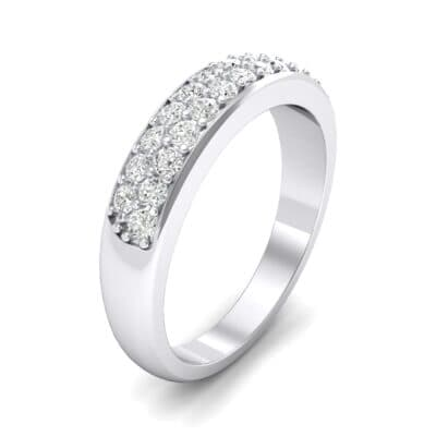 Two-Row Pave Crystals Ring
