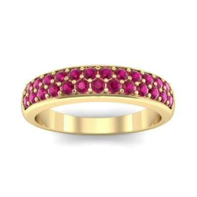 Two-Row Pave Ruby Ring (0.5 CTW) Top Dynamic View