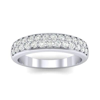 Two-Row Pave Diamond Ring (0.5 CTW) Top Dynamic View