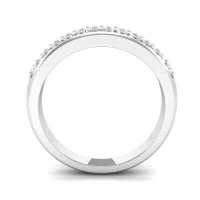 Two-Row Pave Diamond Ring (0.5 CTW) Side View