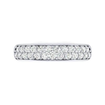 Two-Row Pave Diamond Ring (0.5 CTW) Top Flat View