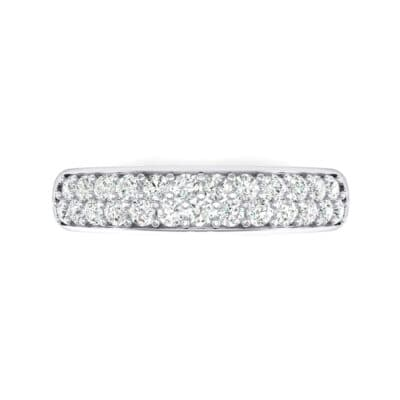 Two-Row Pave Crystal Ring (0 CTW) Top Flat View