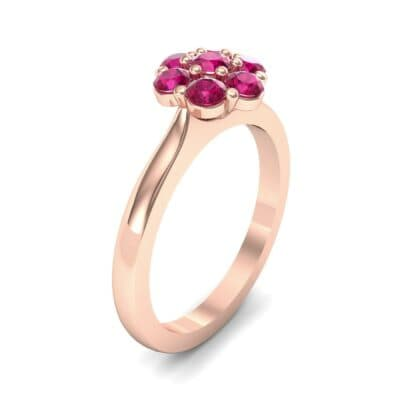 Buttercup Halo Ruby Engagement Ring (0.51 CTW) Perspective View