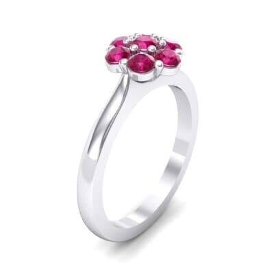 Buttercup Halo Ruby Engagement Ring (0.51 Carat)
