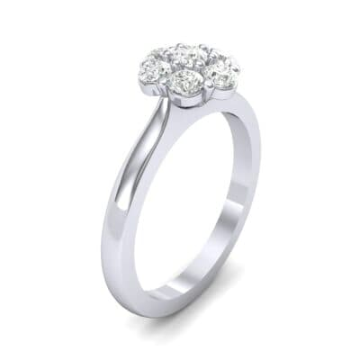 Buttercup Halo Diamond Engagement Ring (0.51 CTW) Perspective View