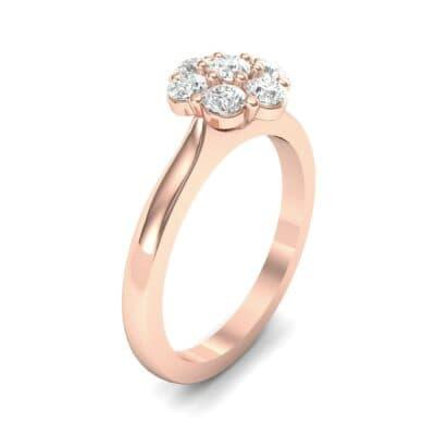 Buttercup Halo Diamond Engagement Ring (0.51 Carat)