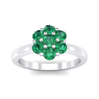 Buttercup Halo Emerald Engagement Ring (0.51 Carat)