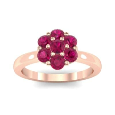 Buttercup Halo Ruby Engagement Ring (0.51 CTW) Top Dynamic View