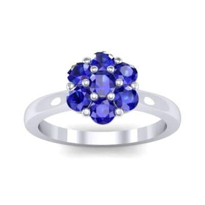 Buttercup Halo Blue Sapphire Engagement Ring (0.51 Carat)