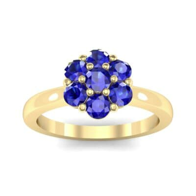 Buttercup Halo Blue Sapphire Engagement Ring (0.51 Carat)
