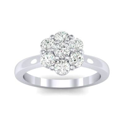 Buttercup Halo Diamond Engagement Ring (0.51 CTW) Top Dynamic View