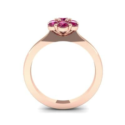 Buttercup Halo Ruby Engagement Ring (0.51 CTW) Side View
