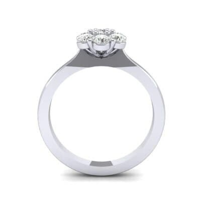 Buttercup Halo Diamond Engagement Ring (0.51 CTW) Side View