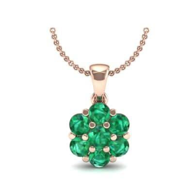 Fiore Emerald Pendant (0.51 CTW) Top Dynamic View