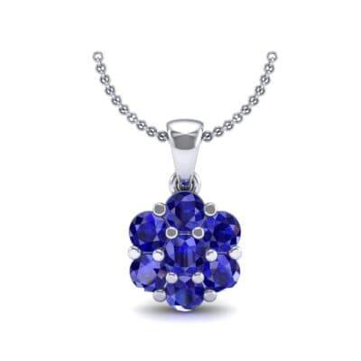 Fiore Blue Sapphire Pendant (0.51 CTW) Top Dynamic View