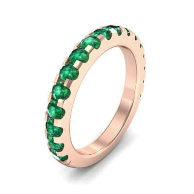 Luxe Scalloped Pave Emerald Ring (0.6 Carat)