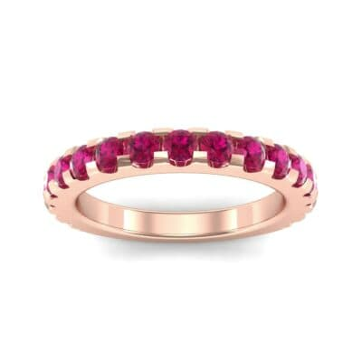 Luxe Scalloped Pave Ruby Ring (0.6 Carat)