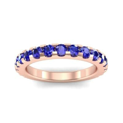 Luxe Scalloped Pave Blue Sapphire Ring (0.6 Carat)