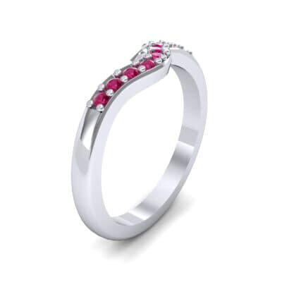 Petite Curved Summit Ruby Ring (0.18 Carat)