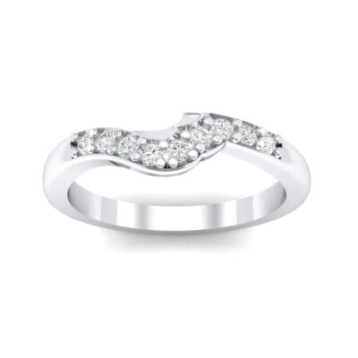 Petite Curved Summit Crystals Ring (0.14 Carat)