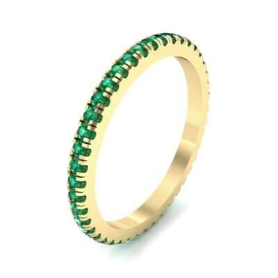 Felicity Pave Emerald Eternity Ring (0.44 Carat)