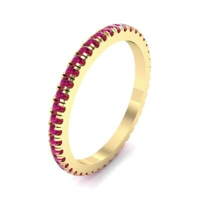 Felicity Pave Ruby Eternity Ring (0.44 Carat)
