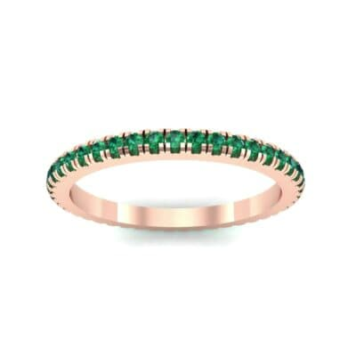 Felicity Pave Emerald Eternity Ring (0.44 Carat)