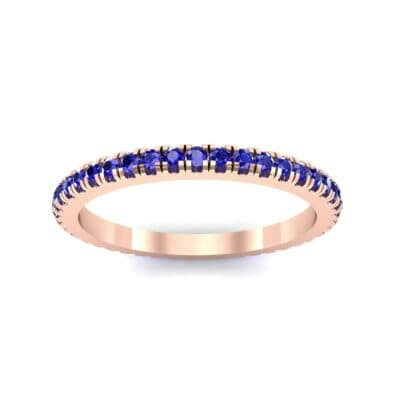 Felicity Pave Blue Sapphire Eternity Ring (0.44 Carat)