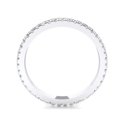 Felicity Pave Crystal Eternity Ring (0.44 CTW) Side View