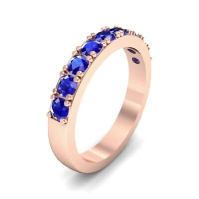 Low-Set Round Brilliant Blue Sapphire Ring (0.56 Carat)