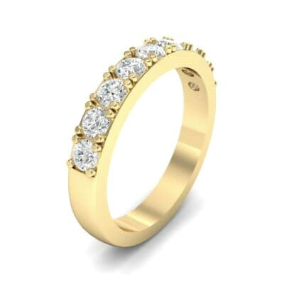 Low-Set Round Brilliant Diamond Ring (0.56 Carat)