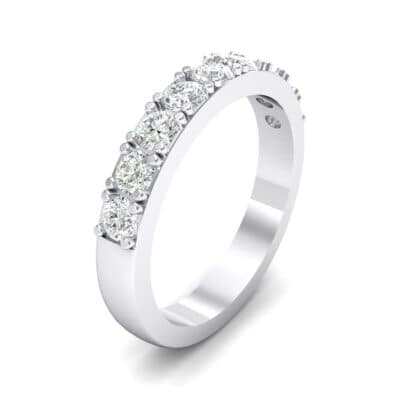Low-Set Round Brilliant Crystal Ring (0.56 CTW)