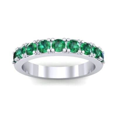 Low-Set Round Brilliant Emerald Ring (0.56 Carat)
